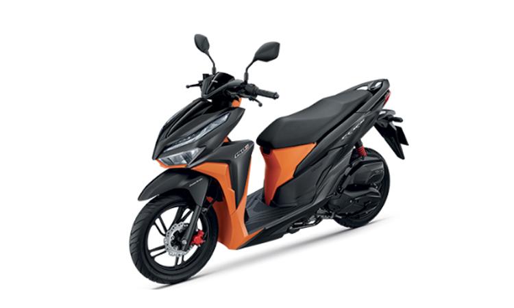 HONDA CLICK 150i สี ดำ-ส้ม
