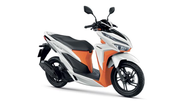 HONDA CLICK 150i สีขาว-ส้ม