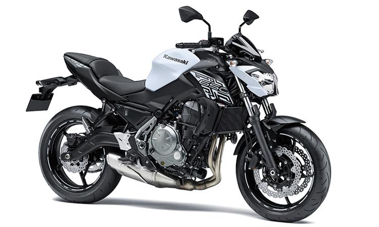 Kawasaki Z650 สีขาวดำ