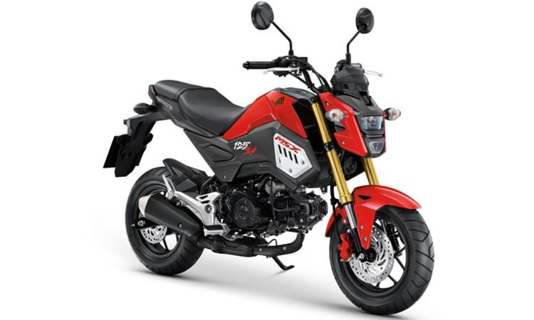 Honda MSX125SF สีแดง-ดำ