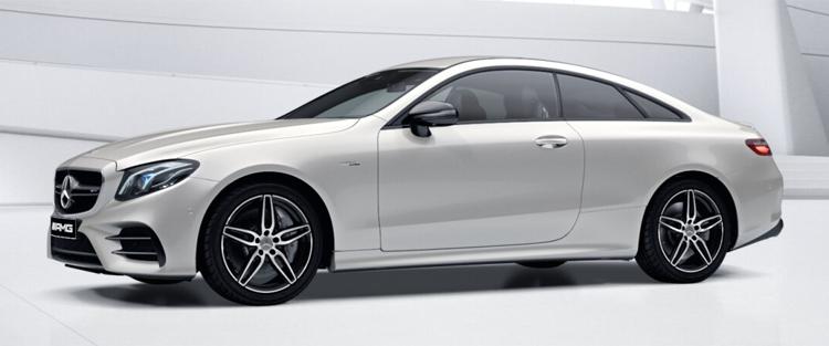 Mercedes-AMG E53 Coupe' 4MATIC+ สี designo diamond white metallic