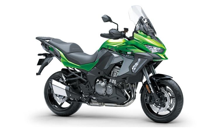 Kawasaki Versys 1000 SE สี Emerald Blazed Green / Pearl Storm Grey (SE)