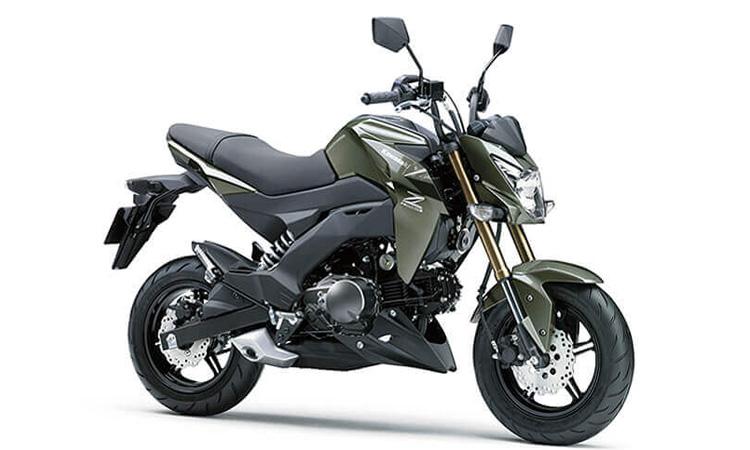 Kawasaki Z125/Z125PRO สีเขียเทา
