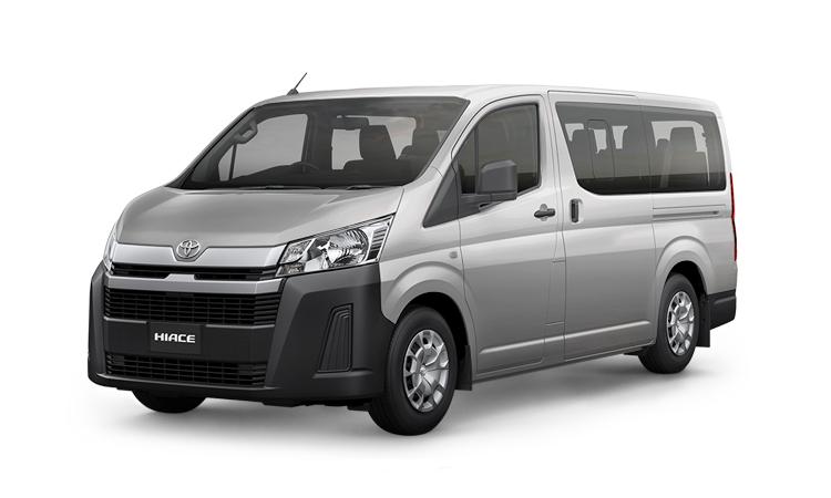 Toyota HiAce สีเงิน Silver Mica Metallic