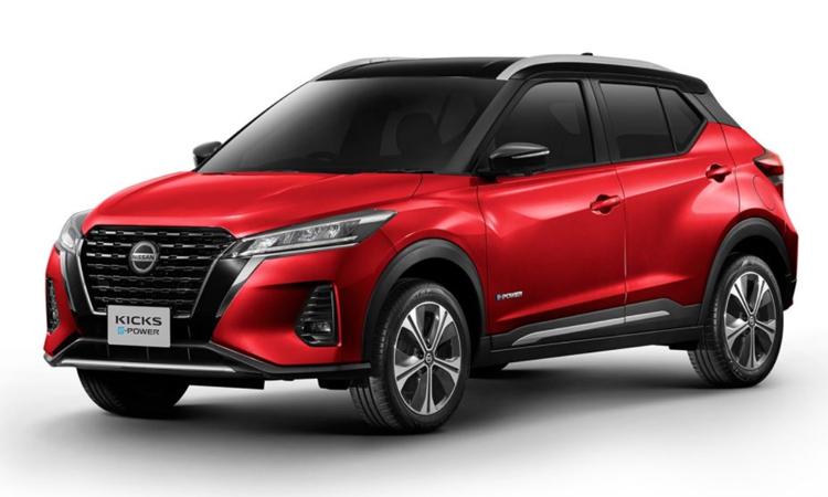 Nissan KICKS e-POWER สีแดง Radiant Red