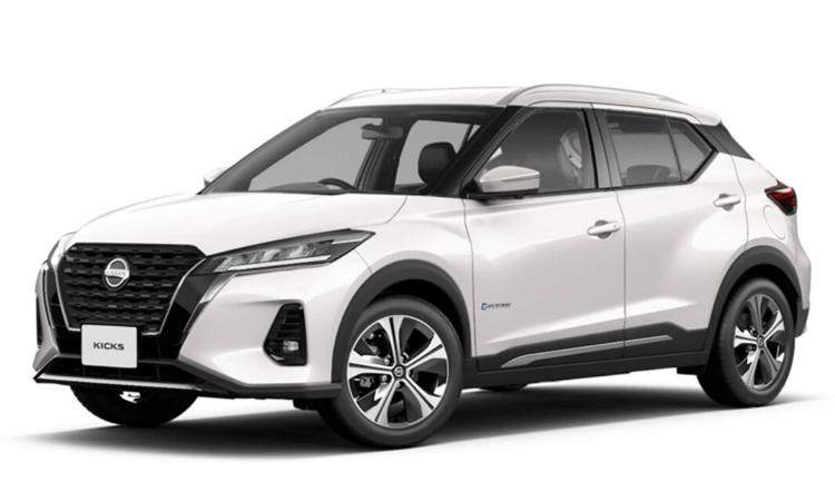 Nissan KICKS e-POWER สีขาว Storm White