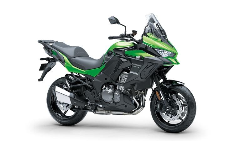 Kawasaki Versys 1000 SE สี แคนดี้ไลม์เขียว / เมทัลลิคสปาร์คแบล็ก