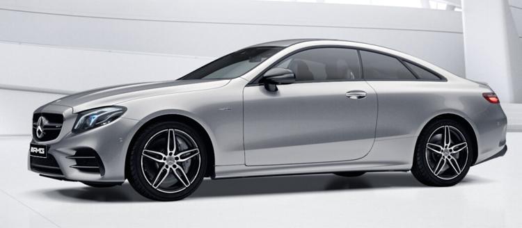 Mercedes-AMG E53 Coupe' 4MATIC+ สี lidium silver metallic
