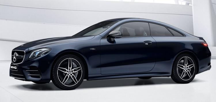 Mercedes-AMG E53 Coupe' 4MATIC+ สี cavansite blue metallic