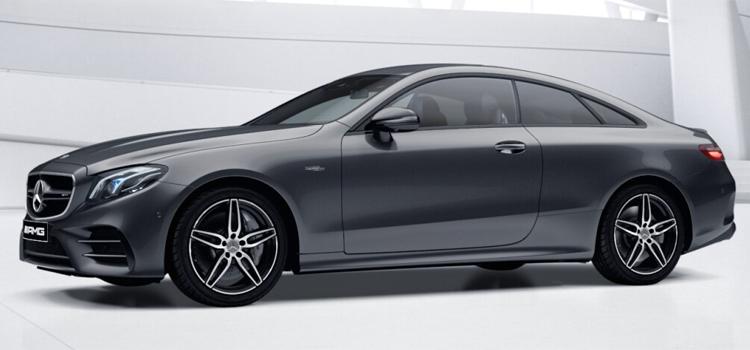 Mercedes-AMG E53 Coupe' 4MATIC+ สี selenite grey metallic