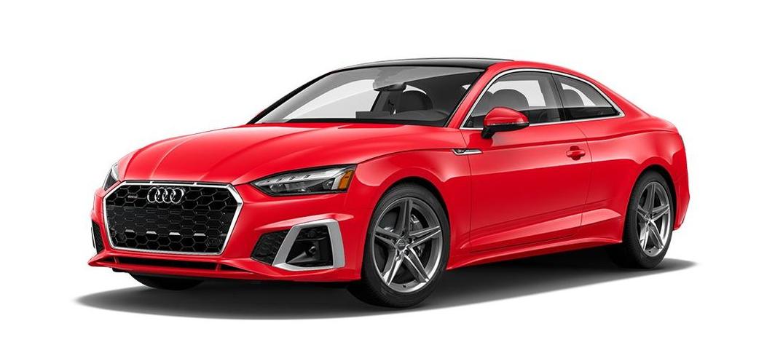 Audi A5 Coupe' สีแดง Tango Red Metallic