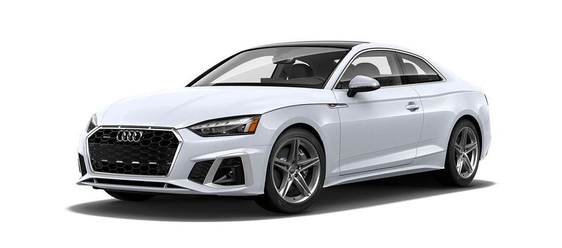 Audi A5 Coupe' สีขาว Glacier White Metallic