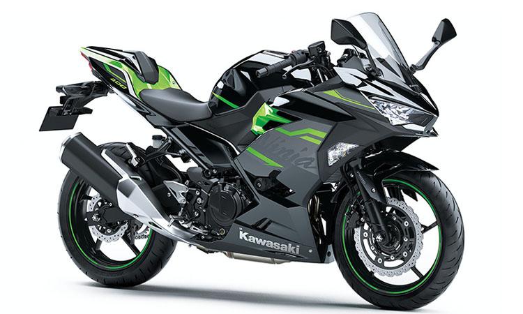 Kawasaki Ninja 400 สี METALLIC SPARK BLACK / LIME GREEN (SE)