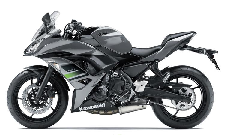 Kawasaki Ninja 650 สี PEARL STORM GRAY / EBONY