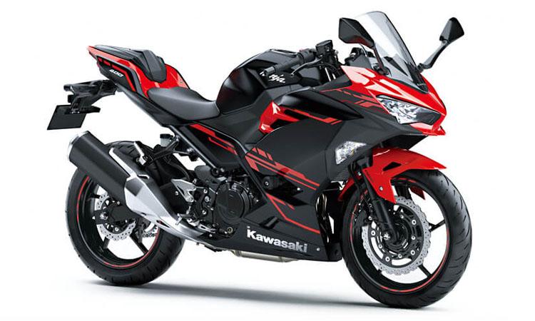 Kawasaki Ninja 400 สี PASSION RED / METALLIC FLAT SPARK BLACK