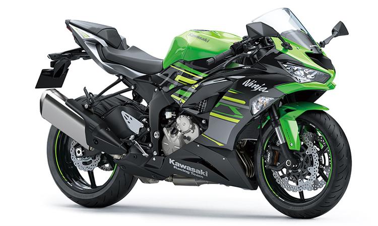 สีตัวถัง Kawasaki Ninja ZX-6R สีเขียว