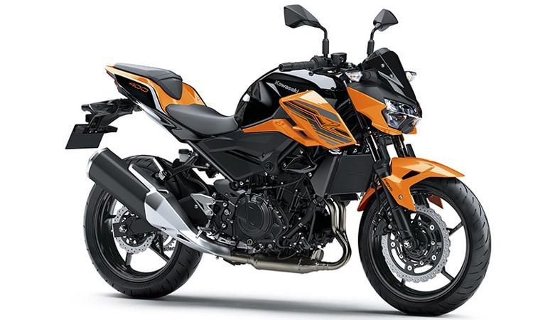 Kawasaki Z400 สีส้มดำ