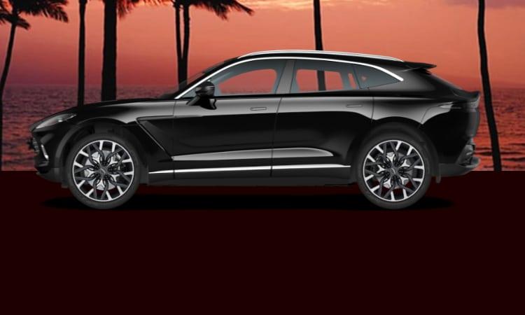 สีตัวถัง Aston Martin DBX สีดำ
