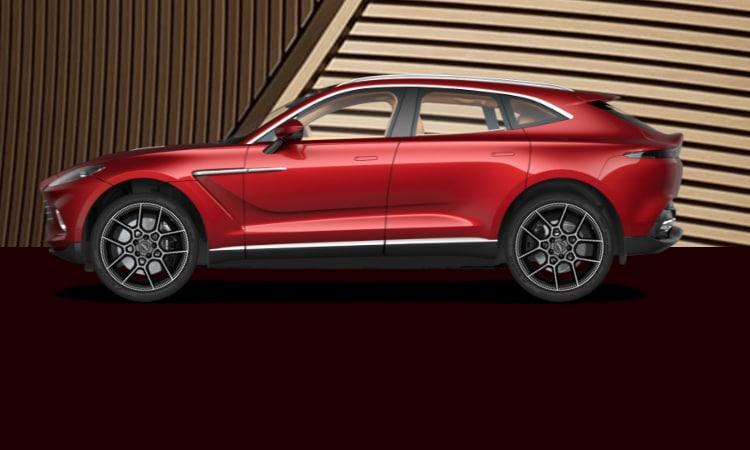 สีตัวถัง Aston Martin DBX สีแดง