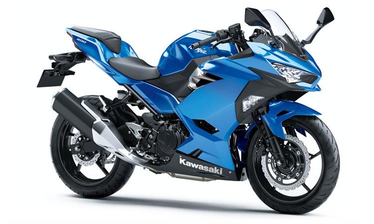 Kawasaki Ninja 400 สี CANDY PLASMA BLUE