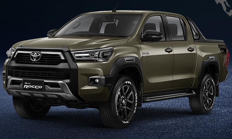 Toyota Hilux REVO ROCCO (Minorchange) สีเทาเขียว Oxide Bronze Metallic