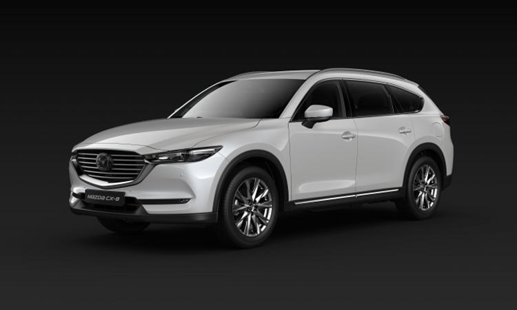 All NEW Mazda CX-8 สีขาว Snow Flake White Pearl