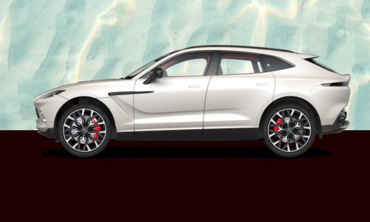 สีตัวถัง Aston Martin DBX สีขาว