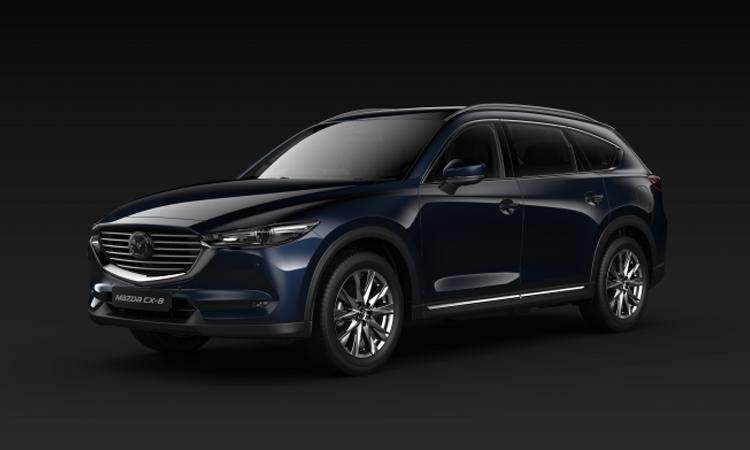 All NEW Mazda CX-8 สีน้ำเงิน Deep Crystal Blue