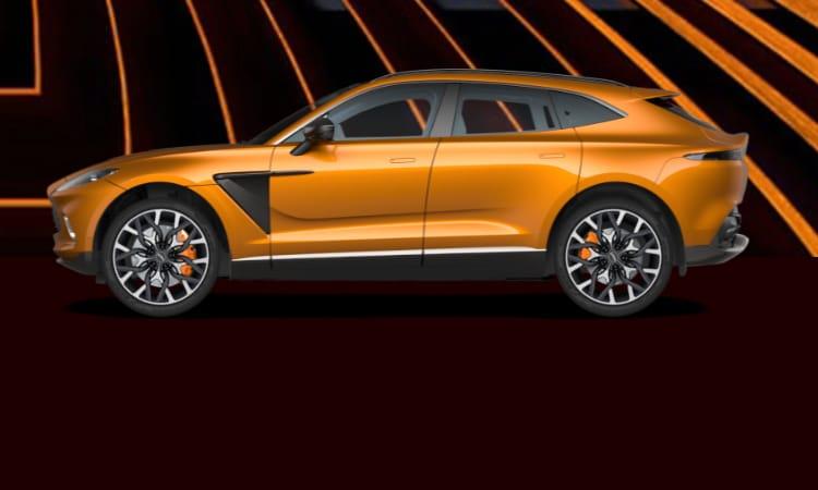 สีตัวถัง Aston Martin DBX สีส้ม