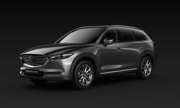 All NEW Mazda CX-8 สีเทา Machine Grey