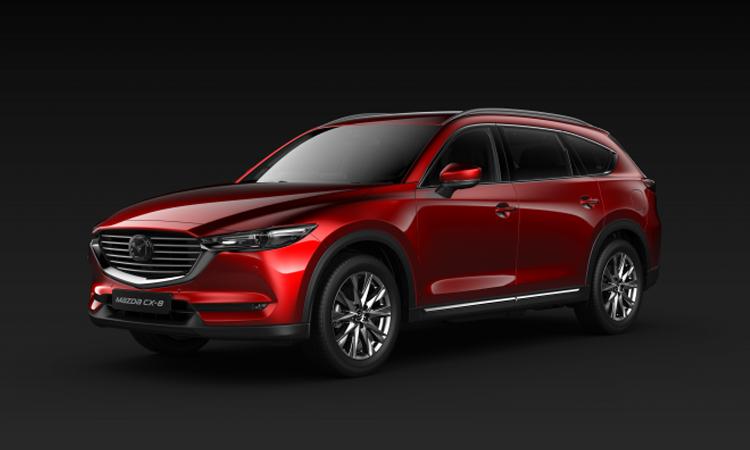 All NEW Mazda CX-8 สีแดง Soul Red Crystal