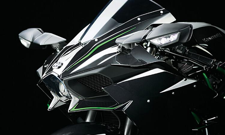 ดีไซน์ด้านหน้า Kawasaki Ninja-H2