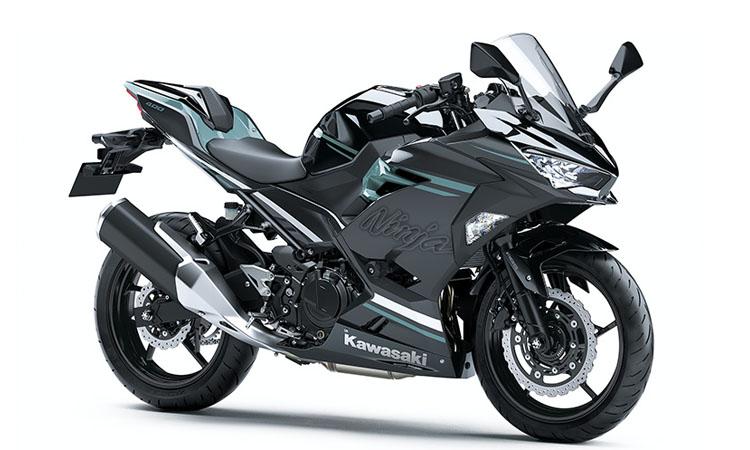 Kawasaki Ninja 400 สี METALLIC SPARK BLACK / PHANTOM BLUE (HG)
