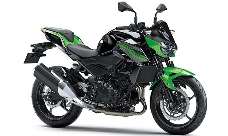 Kawasaki Z400 สีเขียว