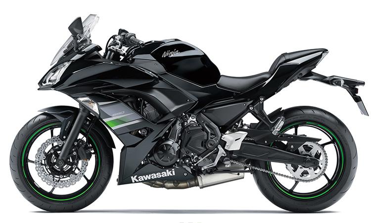 Kawasaki Ninja 650 สี METALLIC FLAT SPARK BLACK / METALLIC SPARK BLACK