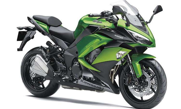 Kawasaki Ninja 1000 สี CANDY LIME GREEN/METALLIC CARBON GRAY