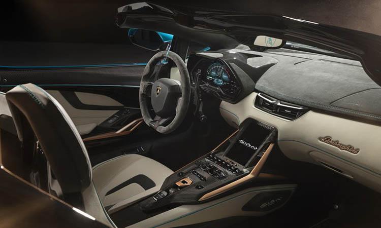 ภายใน Lamborghini Sián Roadster