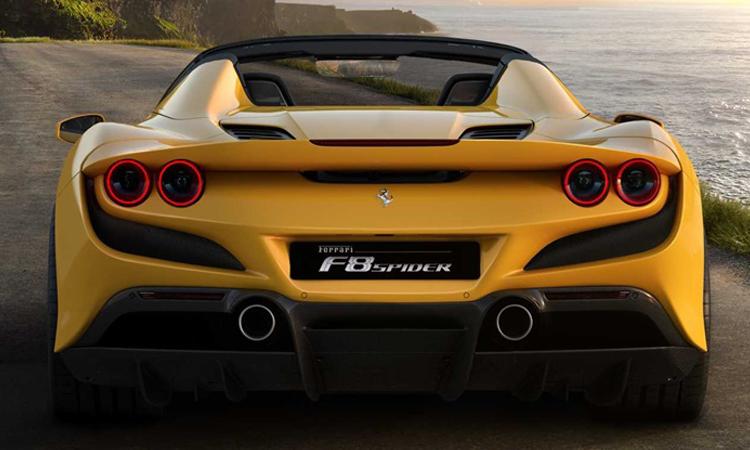 ท่อ Ferrari F8 Spider