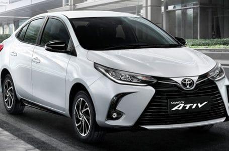 ราคา ตารางผ่อนดาวน์ Toyota Yaris ATIV Minorchange 2020 – 2021