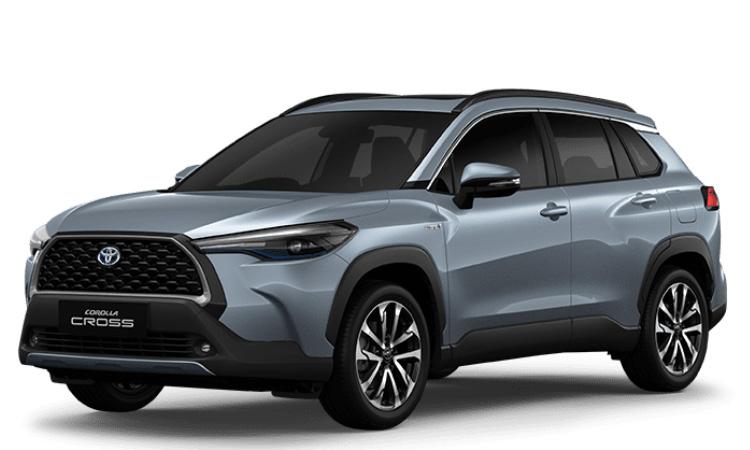 Toyoto Corolla Cross สีเทาฟ้า Celesite Grey Metallic