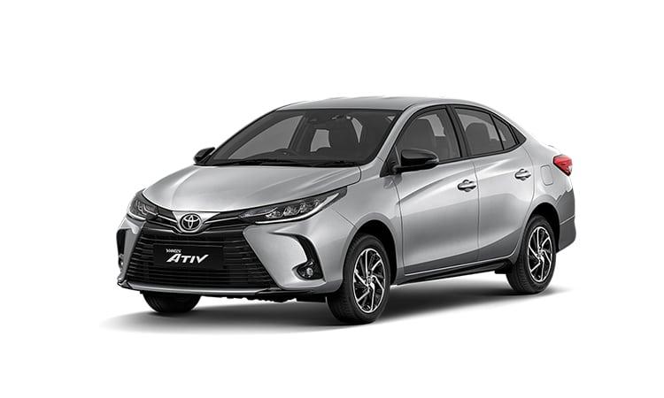 Toyota Yaris ATIV Minorchange สีเงิน Silver Metallic