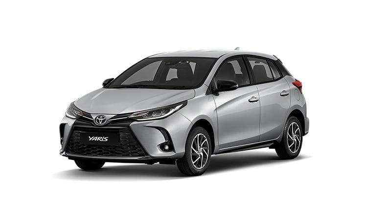 Toyota Yaris Minorchange สีเงิน Silver Metallic