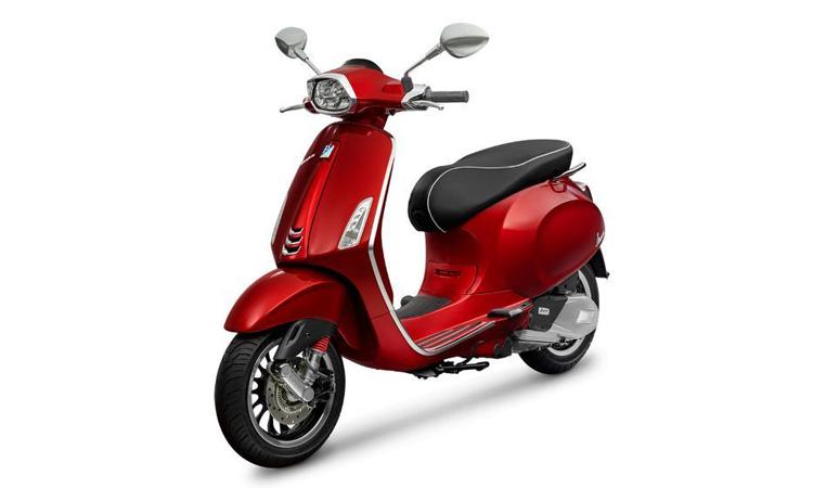VESPA SPRINT 150 i-Get ABS สีแดงเข้มเมทัลลิกใหม่