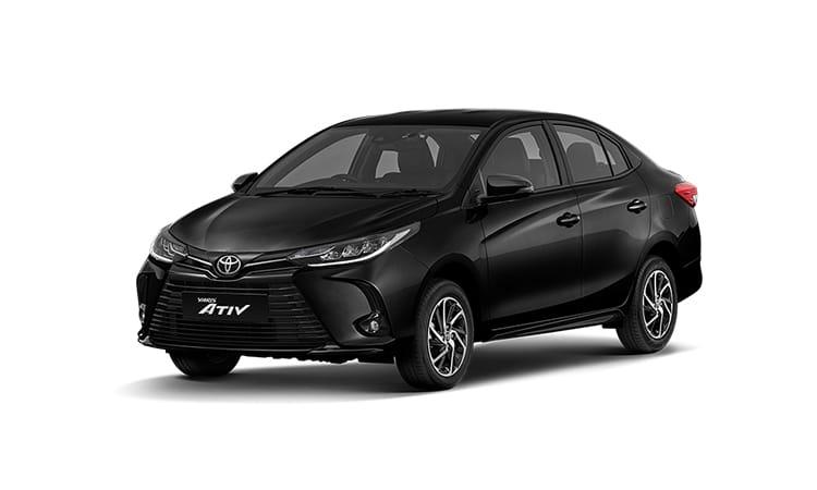 Toyota Yaris ATIV Minorchange สีดำ Attitude Black Mica