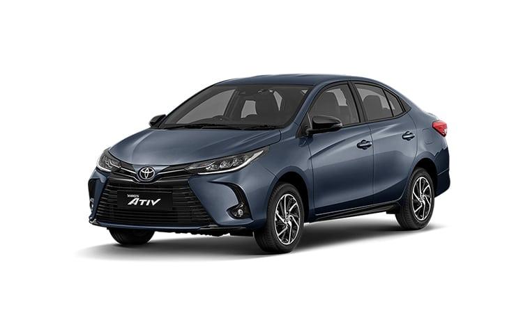 Toyota Yaris ATIV Minorchange สีน้ำเงิน Grayish Blue Metallic