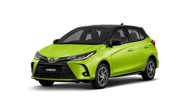 Toyota Yaris Minorchange สีเขียวมะนาว Citrus Mica Metallic (รุ่น Entry / Sport)