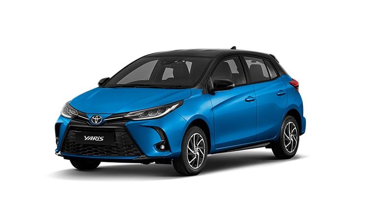 Toyota Yaris Minorchange สีฟ้า Cyan Metallic (รุ่น Entry / Sport)
